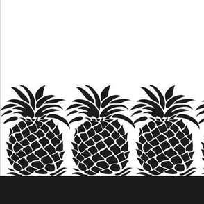 Pineapple Napkin - Black