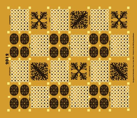 welsh blanket_2012 tea towel calendar_traditional fabric by bee&lotus on Spoonflower - custom fabric