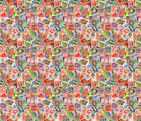 Stamps - Australia fabric by koalalady on Spoonflower - custom fabric