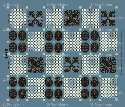 welsh blanket_2012 tea towel calendar deep_sea