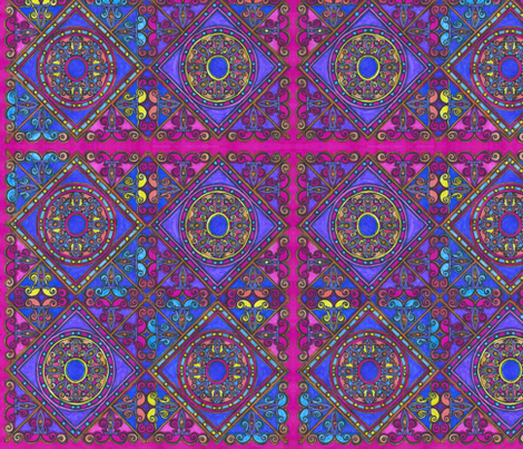 FiligreeTile Rainbow fabric by joonmoon on Spoonflower - custom fabric