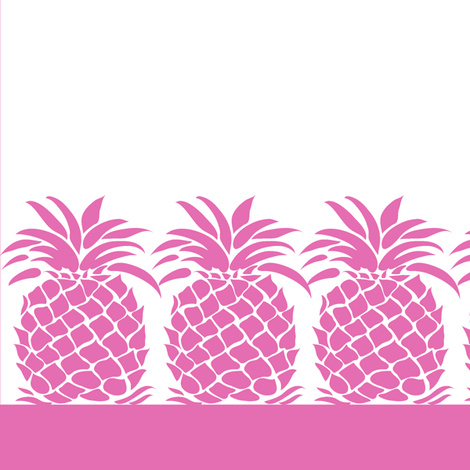 Pineapple Napkin - Pink fabric by dianne_annelli on Spoonflower - custom fabric