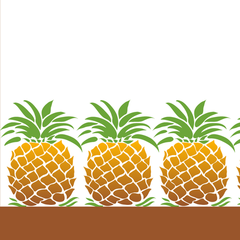 Pineapple Napkin fabric by dianne_annelli on Spoonflower - custom fabric
