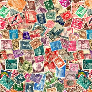 World Stamps- Second Collage