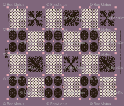 welsh blanket_2012 tea towel calendar_urchin