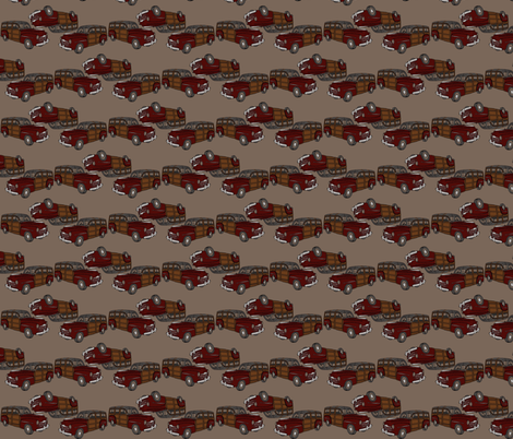 eds woodie on milk chocolate fabric by luluhoo on Spoonflower - custom fabric