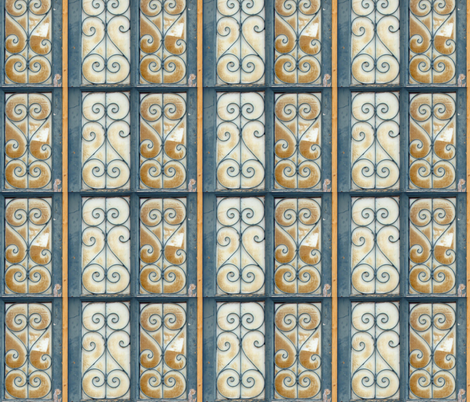 Big Doors-window panes only fabric by susaninparis on Spoonflower - custom fabric