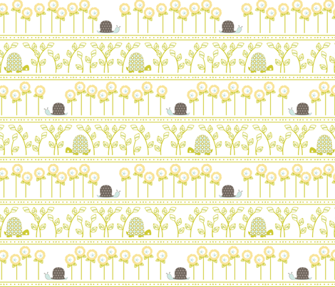Flower Garden - Breathe fabric by ttoz on Spoonflower - custom fabric