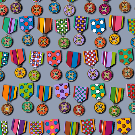 Medals fabric by cassiopee on Spoonflower - custom fabric