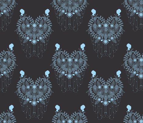 Crown Jewels blue fabric by danielle_b on Spoonflower - custom fabric