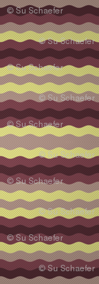 Thin waffle stripe, aubergine and grape