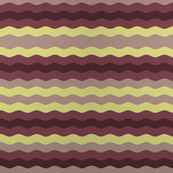 Thin waffle stripe, aubergine and grape