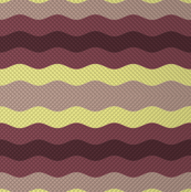 Thin waffle stripe, aubergine + grape by Su_G