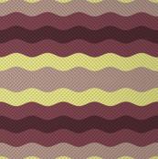 Thin waffle stripe, aubergine + grape by Su_G