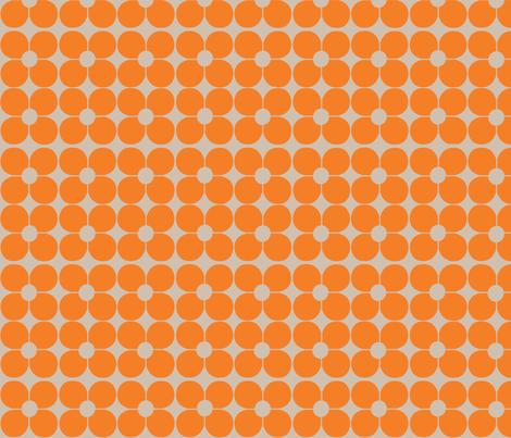 Mod Flor Naranja fabric by katrina_griffis on Spoonflower - custom fabric