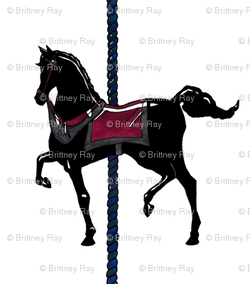 Original Black Carousel Pony