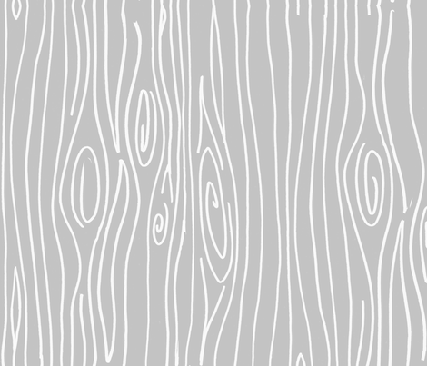 Wonky Woodgrain - Light Light Grey fabric by jesseesuem on Spoonflower - custom fabric
