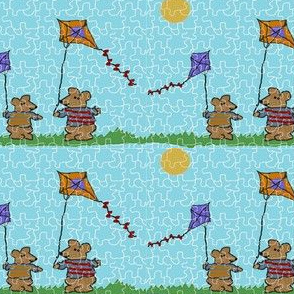 Go Fly a Kite Puzzle -blue