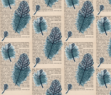 3 feathers fabric by aprilmariemai on Spoonflower - custom fabric