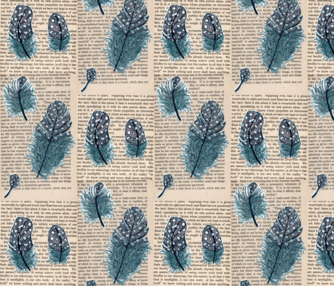 5 feathers fabric by aprilmariemai on Spoonflower - custom fabric