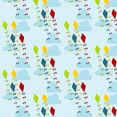 Primary Kites fabric by ninjaauntsdesigns on Spoonflower - custom fabric