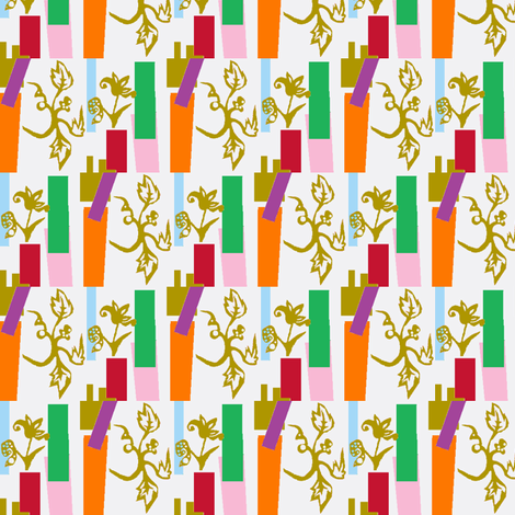 Gilt Floral fabric by boris_thumbkin on Spoonflower - custom fabric
