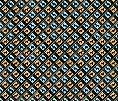 Newfy triangle fabric  fabric by dogdaze_ on Spoonflower - custom fabric