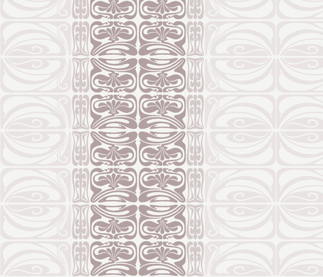 Flora Ornamental Stripe Neutral fabric by dolphinandcondor on Spoonflower - custom fabric