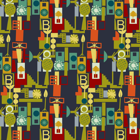 House of B fabric by boris_thumbkin on Spoonflower - custom fabric