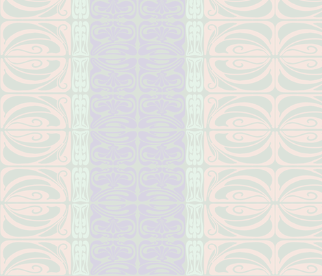 Flora Ornamental Mint fabric by dolphinandcondor on Spoonflower - custom fabric