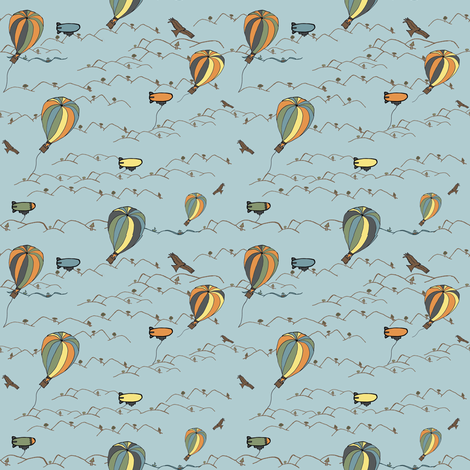 hot air balloon kites fabric by luluhoo on Spoonflower - custom fabric