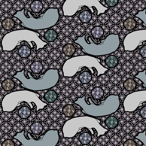 sleeping kitties calm fabric by glimmericks on Spoonflower - custom fabric
