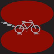 biking on cars in black and red