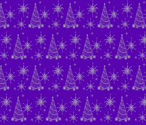 Retro tinsel star  majestic fabric by paragonstudios on Spoonflower - custom fabric