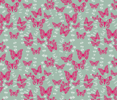 dancing butterflies fabric by bethan_janine on Spoonflower - custom fabric