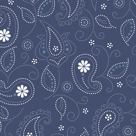Blues: Paisley pattern fabric by jennartdesigns on Spoonflower - custom fabric