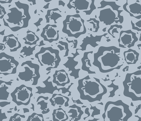 Field of Blooms - Gray fabric by owlandchickadee on Spoonflower - custom fabric