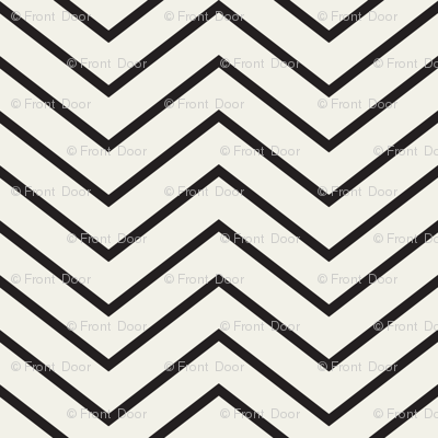 Chevron And On: Skinny Black