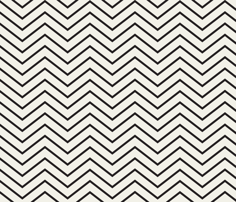 Chevron And On: Skinny Black fabric by frontdoor on Spoonflower - custom fabric