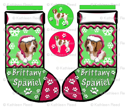BRITTANY_SPANIEL_CHRISTMAS_STOCKING