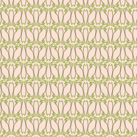 nouveau dawn fabric by glimmericks on Spoonflower - custom fabric