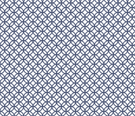 Blues: Circles fabric by jennartdesigns on Spoonflower - custom fabric