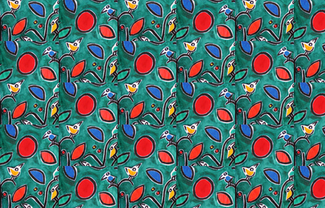 PICT0181_Sea of Birds in a Garden fabric by josephinefletcher on Spoonflower - custom fabric