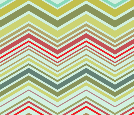 zig zag spa fabric by littlerhodydesign on Spoonflower - custom fabric