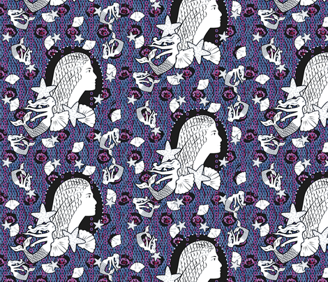 Princess of the Arctic Ocean fabric by glimmericks on Spoonflower - custom fabric