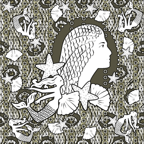 Princess of the Scrimshaw Trade fabric by glimmericks on Spoonflower - custom fabric