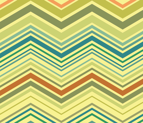 zig zag aqua fabric by littlerhodydesign on Spoonflower - custom fabric