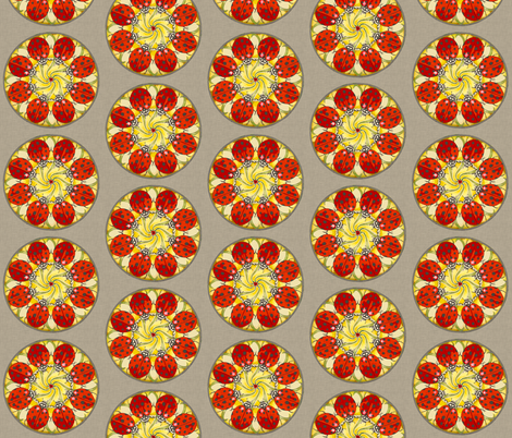 ladybug_mandala_linen fabric by holli_zollinger on Spoonflower - custom fabric