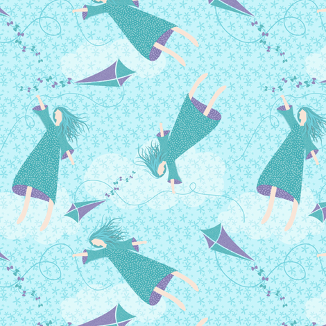 carefree flight!  fabric by vo_aka_virginiao on Spoonflower - custom fabric