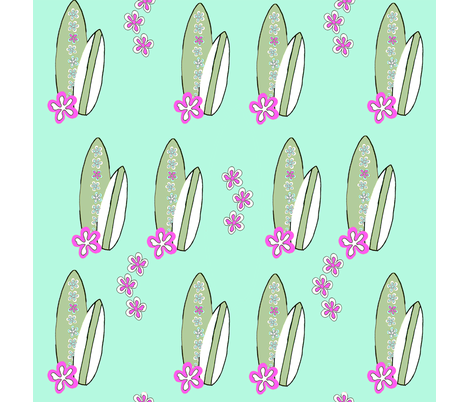 surfer_girl_blue_lilac fabric by carolinamud on Spoonflower - custom fabric